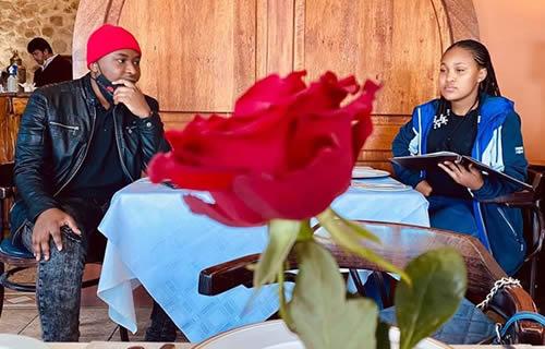 Brandon Dhludhlu and Zama Khumalo photo